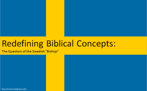 Redefining Biblical Concepts